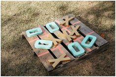 15 Wooden Pallet Wedding Ideas - outdoor wedding games wooden pallets make yourself - Outdoor Wedding Games, Wedding Reception Games, Outdoor Games, Wedding Backyard, Reception Ideas, Outdoor Weddings, Romantic Backyard, Reception Decorations, Wedding Ceremony