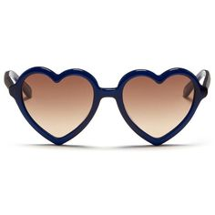 Sons+Daughters Eyewear 'Lola' kids acetate heart frame sunglasses (4,365 DOP) ❤ liked on Polyvore featuring accessories, eyewear, sunglasses, blue, acetate glasses, acetate sunglasses, heart glasses, heart-shaped sunglasses and blue sunglasses