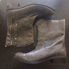 New Distressed Boots Just tried on. From Nordstrom Rack Jessica Elliot Shoes Combat & Moto Boots