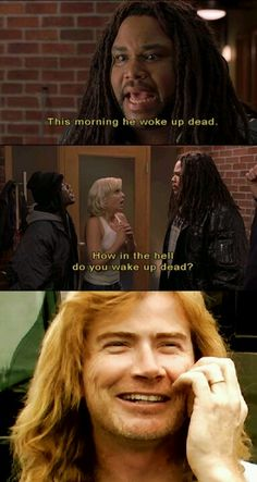 Haha scary movie 3 and Megadeth two awesome things in one.