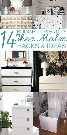 14 Ikea Hacks for MALM dresser. You can turn your old malm dresser into a headbo. , 14 Ikea Hacks for MALM dresser. You can turn your old malm dresser into a headboard nightstand nursery desk vanity Kallax Ideas, Diy Kallax, Ikea Hacks, Ikea Hack Storage, Storage Drawers, Ikea Malm Drawers, Ikea Dresser, Ikea Malm Desk, Nightstand