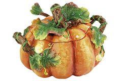 Pumpkin Tureen Set on OneKingsLane.com