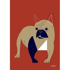 GreenBox Art 'Mod Dog French Bulldog' by Eleanor Grosch Graphic Art on Wrapped Canvas Size: