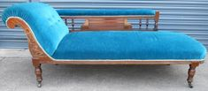 Edwardian Mahogany Upholstered Chaise Longue Settee