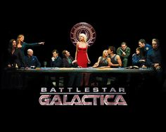 """Battlestar Galactica chronicles the journey of the last surviving humans from the Twelve Colonies of Kobol after their nuclear annihilation by the Cylons. The survivors are led by President Roslin and Commander Adama in a ragtag fleet of ships with the Battlestar Galactica, an old but powerful warship, as its command ship. Pursued by Cylons intent on wiping out the remnants of the human race, the survivors travel across the galaxy looking for the fabled and long-lost """"thirteenth"""" colony."""