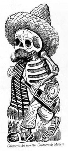 calaveras de dia de muertos dibujo
