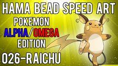Hama Bead Speed Art | Pokemon | Alpha/Omega | Timelapse | 026 - Raichu