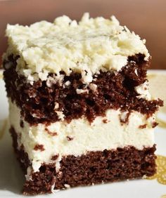 Cream Cake, Ice Cream, Cake Recipes, Dessert Recipes, Brownie Bar, Food Cakes, Food And Drink, Cooking Recipes, Sweets