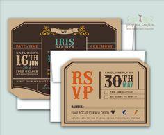 Niche // Cutecut wedding invitation recycled kraft by PapierLapin, $100.00 Combinacion de colores en cartulina kraft