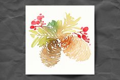 Set of watercolor Christmas cards - Cards - 3