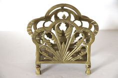 Vintage Brass Toast Rack