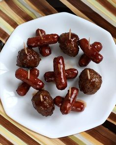 Game Day Lil' Smokies & Meatballs in an amazing sauce! Butter With a Side of Bread #cupcake