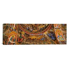 "East Urban Home Panoramic Rila Monastery, Bulgaria Photographic Print on Canvas Size: 16"" H x 48"" W x 1.5"" D"