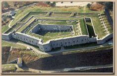 Fort Knox & the Penobscot Narrows Observatory : Prospect, Maine - Travel and tour Maine Military History Fort Knox Kentucky, My Old Kentucky Home, Fort Knox Maine, Star Fort, Medieval, Old Fort, Halloween Haunted Houses, Fortification, Historical Sites