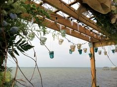 Wedding Pergola, Rustic, Close Up
