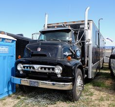 Old Ford Trucks, Ford Tractors, Semi Trucks, Custom Campers, Custom Trucks, Cab Over, Old Fords, Motor Speedway, Collector Cars