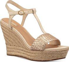 Ugg Fitchie Wedge Espadrille Dress Sandals - Sandal - Ugg - Soft Gold. Ugg Fitchie Wedge Espadrille Dress Sandals Shoes #footwear #Ugg #shoes #wedgesandals #style #stylish #fashion