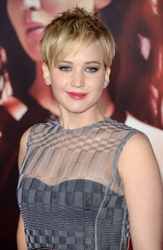 Pixie Lookbook: Jennifer Lawrence wearing Pixie (116 of 134). Jennifer Lawrence went for a punk vibe with this short messy 'do at the 'Catching Fire' LA premiere.