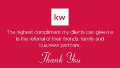 BACK-900R - KW Block Logo above phrase on red background. (For more Keller Williams Realty business card designs, visit AgentCards.biz)