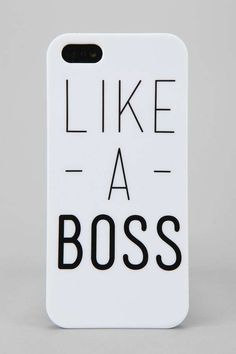 The 'Like A Boss' iPhone Case is Perfect for the Head Honcho #phonecase #smartphone trendhunter.com