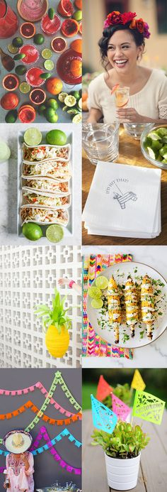 Fiesta bridal shower inspiration board Summertime and fiestas go together like tequila and limes. Which is why with just a month or so left to enjoy the season, I had to put together this fiesta inspiration board for your next bridal sh… Unique Bridal Shower, Bridal Shower Decorations, Bridal Shower Favors, Bridal Shower Invitations, Bridal Shower Dresses, Mexican Bridal Showers, Festa Party, Shower Inspiration, Mexican Party