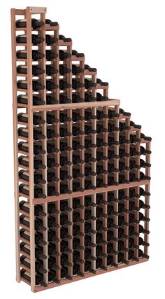 Handmade Wooden Standard Waterfall Display Wine Shelf Rack Display in Premium Redwood. 13 Stain Combinations to Choose From!
