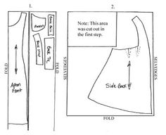Edwardian Apron: easy apron sewing pattern - free