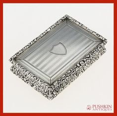 ANTIQUE 19thC GEORGIAN SOLID SILVER LARGE TABLE SNUFF BOX, THOMAS SHAW c.1827  for more information: http://stores.ebay.co.uk/Pushkin-Antiques-Ltd