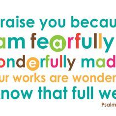 Psalm 139:14 | ScriptureArt®