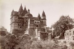 """India - The Chaturbhuj Temple at Orcha,"""" - photo by Lala Deen Dayal, 1882"""