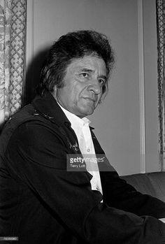 Johnny Cash backstage at Wembley Conference Centre, London