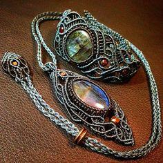 """60 Likes, 1 Comments - Ronjin (@ronjin2011) on Instagram: """"labradorite bracelet necklace #labradorite #bracelet #necklace…"""""""