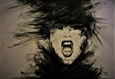 Scream/charcoal drawing