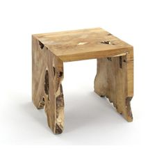 $169.99 Add a natural vibe to your living space with this unique side table. It has a smooth surface and natural looking cutouts, giving it an earthy vibe.