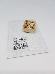 wood stamps , stamping, decoration,