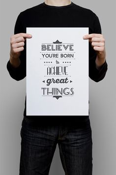#Print #Digital #Download #Printable #Home #Decor #Poster #Typography #Inspirational #Quote #Art #Erhico #Design‬ #believe