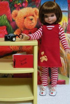 Wonderful World of Dolls - Fits 14 Inch Tonner Betsy McCall Doll .. Red Jumper with Teddy Bear ... D182, $8.50 (http://www.wonderfulworldofdolls.biz/fits-14-inch-tonner-betsy-mccall-doll-red-jumper-with-teddy-bear-d182/)
