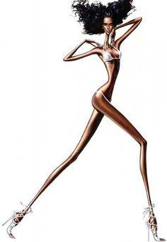 Por desgracia, la anorexia está de moda. Chicas esqueléticas y altísimas que sólo desde esa condición pueden exhibir debidamente las extravagancias de las