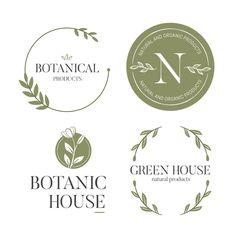 Natural business logo set in minimal sty. Corporate Branding, Logo Branding, Branding Design, Brand Identity, Logo Nature, Logos 3d, 3d Logo, Letras Cool, Logo Boutique