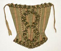 Date:      1770–80  Culture:      Italian  Medium:      silk  Dimensions:      a) 13in. (33cm) b) 29in. (73.7cm)  Credit Line:      Rogers Fund, 1926  Accession Number:      26.56.50a, b