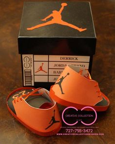 Jordan Jumpman Inspired Baby Shoes And Box Invitation By Ccbyshon