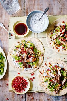 Bring the flavours of the Middle East to your midweek meals with this stunning chicken shawarma. Ideal for sharing – pile a platter full of warm flatbreads, mint-yogurt, crisp lettuce and cucumber and sumac-spiced chicken, then let everyone dive in. | Tesco
