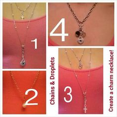 Add a droplet to the chain of your choice and create your own charm necklace! #southhilldesigns www.southhilldesigns.com/kristencopeland Independent Artist #325930