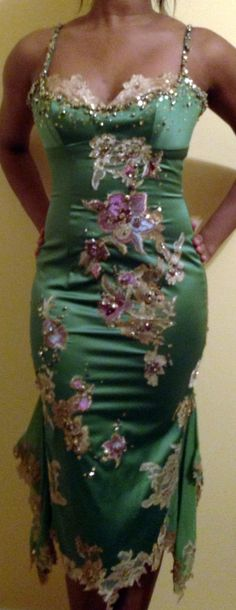 Mandalay by Julian Joyce Hot Green Dress - $450.00