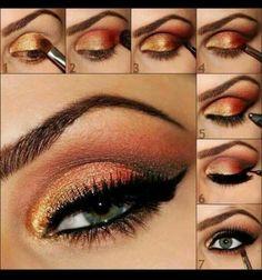 Fire eye makeup