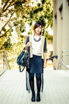 Evelyn, designer and founder of local brand, Foreword.  http://www.facebook.com/ForewordLabels