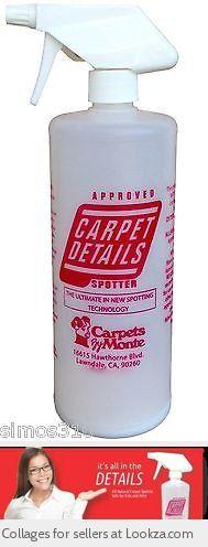 Carpet Details Spotter Carpet Upholstery Spot Cleaner Stain Remover 32oz