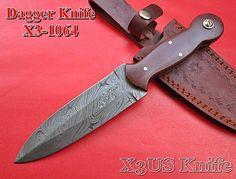 X3us Blades Custom Handmade Damascus Steel Dagger Knife,G10 Micarta Handle. #X3USBlades