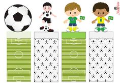 KATIA ARTES - BLOG DE LETRAS PERSONALIZADAS E ALGUMAS COISINHAS: Embalagem Bis Duplo Soccer Birthday Parties, Hockey Party, Soccer Theme, Football Birthday, Sports Party, Party Printables, Free Printables, Superman Party, Holidays And Events