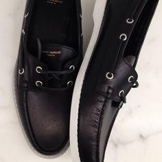 Saint Laurent black boat shoes